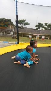 main trampolin di dalam area playground. Dijamin anaknya ga mau pulang